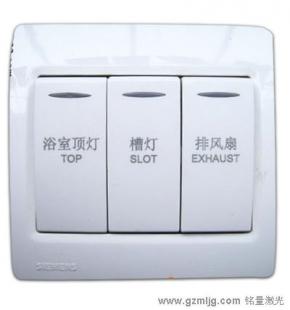 墙壁开关,浴室开关,电源开关激光打标机